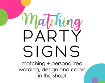 Custom Party Sign Baby Shower Birthday Party Bridal Celebration Printable Personalized Photo Booth Welcome Sign Buffet Signs Don't Say Baby