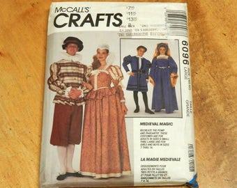 """Uncut McCall's 6096 P402 Medieval Renaissance Costumes Jacket-Gown-Hat-Dress-Shirt Size L 40""""-42"""" Large"""