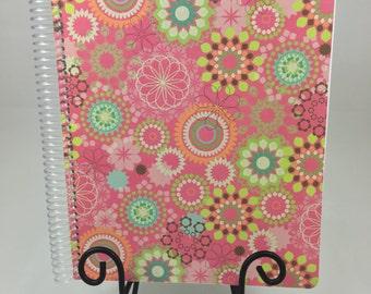 Bullet Journal, Planner - Pink Floral Bullet Journal, Planner, Notebook
