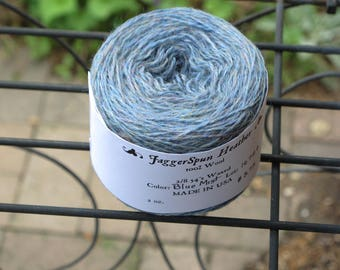 JaggerSpun 2/8 Blue Mist Heather Wool Yarn