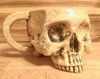 Ceramic Skull Mug with Handle