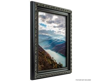 Craig Frames, 16x20 Inch Antique Black Picture Frame, Ancien Ornate (101871620)