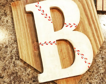 Baseball Monogram, Baseball Room Decor Baseball Fan, Baseball Theme, Baseball Party, Home Plate, Baseball Wall Decor