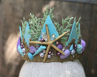 Starfish Crown - Mermaid Party - Birthday Party - Bachelorette Crown - Bachelorette Party - Flower Girl -   READY TO SHIP