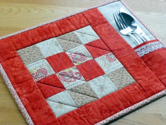 Pdf Pattern For 6 Quilted Placemats Amp Coasters Beginner