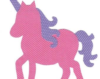 Unicorn iron on fabric applique DIY