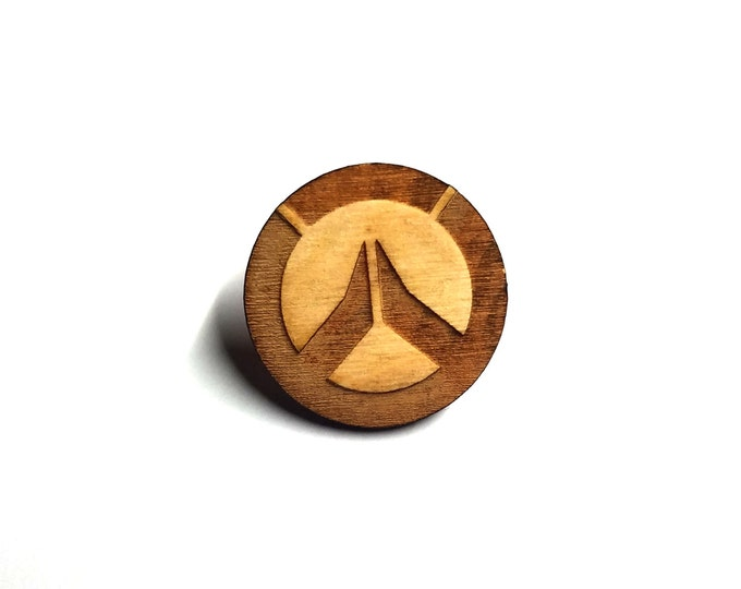 Overwatch Logo Pin | Laser Cut Jewelry | Wood Accessories