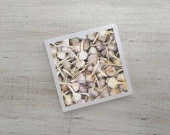 Garlic Art Magnet | Neodymium | Vintage Charm | Kitchen Fridge Magnet