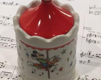 Vintage Disney Souvenirs, Disney Carousel Ceramic Jar, Vintage Disney Carousel, Disney Carousel, Ceramic Disney Carousel, Vintage Disney,