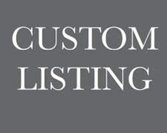 Custom Listing for Nicole- Shipping
