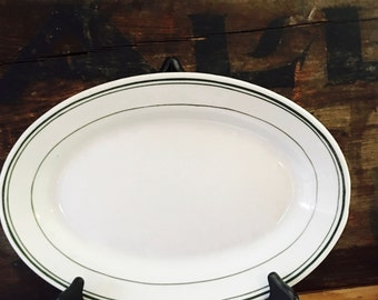 Vintage Trenle-Blake Restaurant Plate Classic Green Double Striped