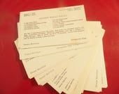 Typed Recipe Cards - Buffalo NY - Lot Of 58 - Typewritten - Meet The Millers TV Show
