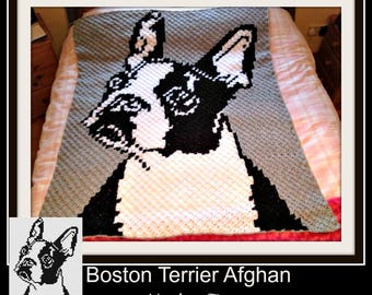 C2C Graph, Boston Terrier C2C Graph with Written Word Chart