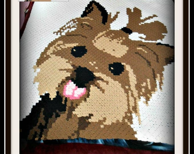 Featured listing image: Yorkie Afghan, C2C Graph, Written Word Chart