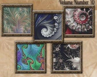 Counted Cross Stitch Designs - Fractal Cross Stitch Patterns Volume 10 - Five Beautiful Charts - Instant Download PdF - StitchX Best Seller