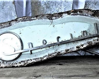 """Special Car Emblem/Blue  Awesome 1950's Buick """"Special"""" Car Emblem//Rare Car Emblem"""