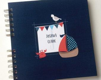 Baby Book |  Baby Memory Album | Baby Memory Book, Nautical Wire Bound