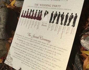 DEPOSIT for Custom Wedding ceremony program