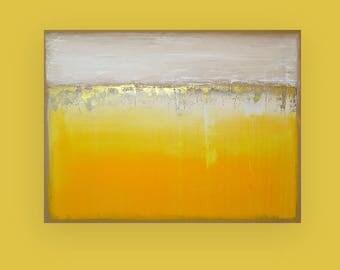 "Yellow, Bright, Original,Art, Large Painting, Original Abstract, Acrylic Paintings on Canvas by Ora Birenbaum Titled: Lemondrop 4 30x40x1.5"""