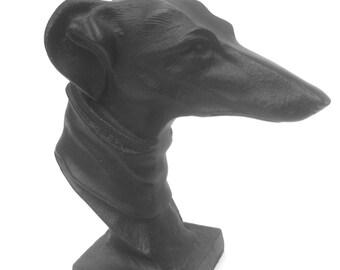 Cast Iron Metal Grey Hound Statue