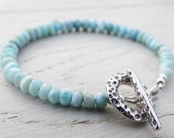 Larimar & Silver Bracelet - Sterling Silver