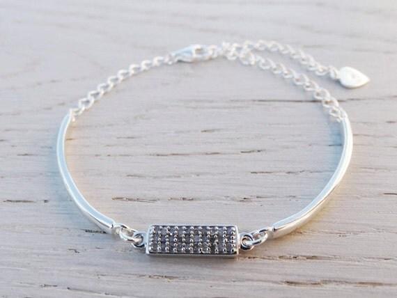 Diamond Bracelet - Sterling Silver