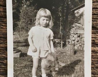Original Vintage Photograph Little Laura