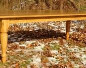 Reserved Listing for a Custom Oak Farm Table for Meghann