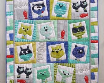 Catface Digital PDF Applique Quilt Pattern
