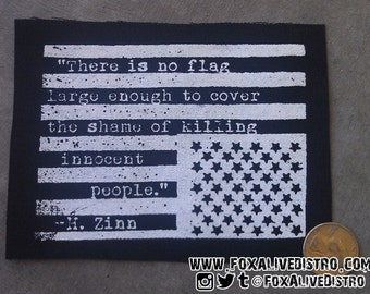 American Flag, Howard Zinn - Punk Patch