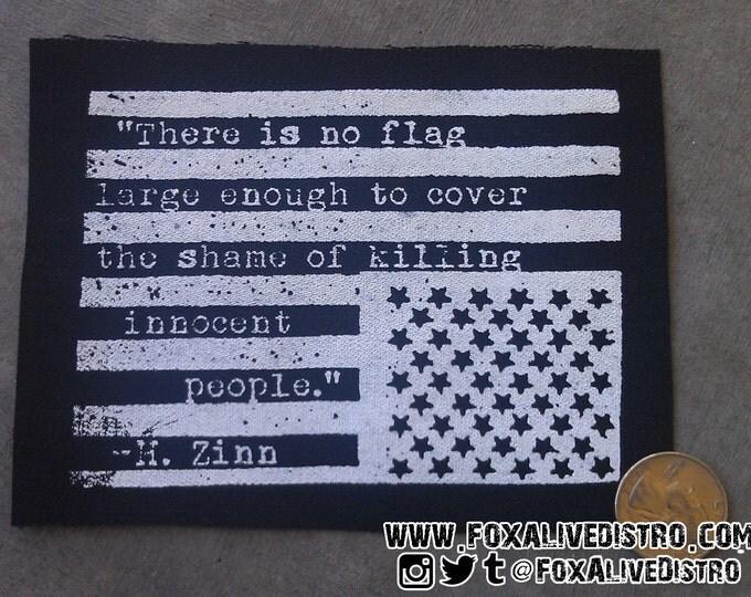 American Flag, Howard Zinn - Punk Patch