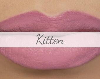 "Vegan Matte Lipstick Sample - ""Kitten"" (light pastel pink natural lipstick with opaque coverage)"