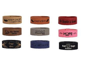 Leatherette Cuff Bracelet