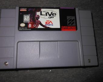 SNES NBA Live basketball - video game - Super Nintendo -