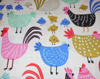 Cluck Cluck / Natural Deleon Design Group - Alexander Henry Fabric 1 Yard