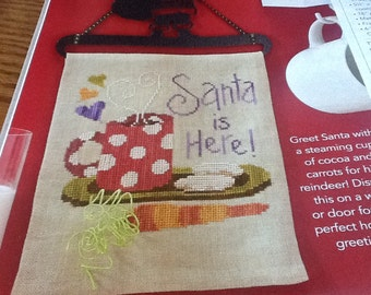 SANTA IS HERE - Cross Stitch Pattern Only