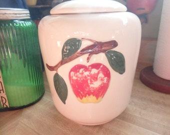 Vintage Apple Cookie Jar