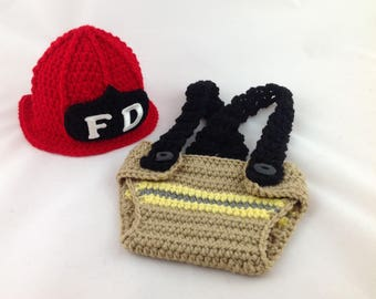 Baby Firefighter Outfit - Newborn Firefighter - Firefighter Baby - Firefighter Baby Boy - Firefighter Baby Shower - Turnout Gear - Fireman