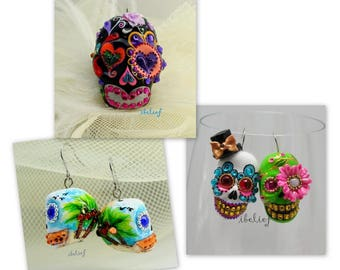 Skull the day of the dead skull 3 items