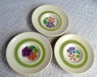 Christmas Sale Vintage Franciscan Ware Floral Saucers / Earthenware Plates / California Pottery