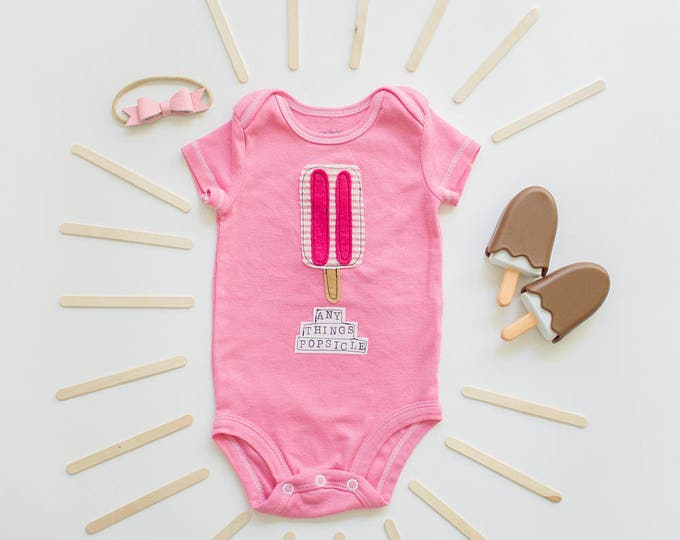 """Swanky Shank Hand-Dyed Gender Neutral """"AnyTHINGS Popsicle"""" Bodysuit or Tee"""