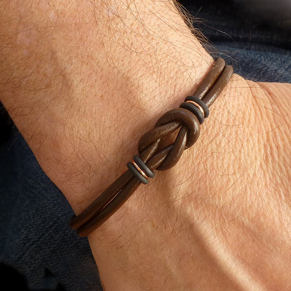 Celtic Bracelet Unisex Bracelet Mens Brown Leather Bracelet