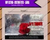 Custom Flyer Design for Laura -9/11 Memorial
