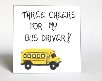 Gift Magnet - Bus Driver Saying -Yellow Schoolbus, quote of appreciation