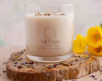 Full Moon Soy Wax Candle - Moon Candle - Wicca Candle - Magic Candle - Lunar Candle - Candle Magick