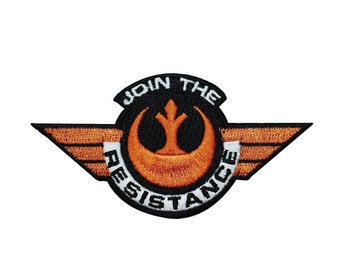 "Star Wars ""Join the Resistance"" Iron-On Patch Rebel Alliance Soldier Applique"