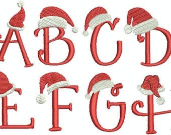Christmas Alphabet Machine Embroidery Designs