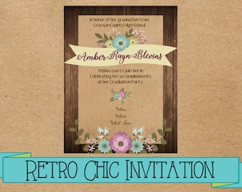 Custom Rustic Chic Invitation (Printable)