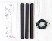 Expansion Pack for Embroidered Leather Bracelet Kit, Skinny, Make More Pack, Set of 3 Bracelet Blanks