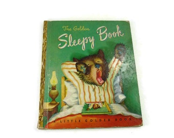 The Golden Sleepy Book Vintage Little Golden Book 1940s